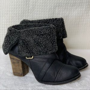 Chinese Laundry black heeled ankle boots size 8.5